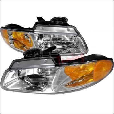 Spec-D - Dodge Caravan Spec-D Crystal Housing Headlights - Chrome - 2LH-CAR96-DP