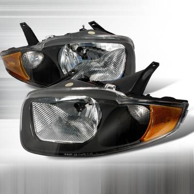 Spec-D - Chevrolet Cavalier Spec-D Crystal Housing Headlights - Black - 2LH-CAV03JM-KS