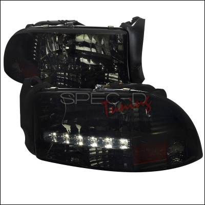 Spec-D - Dodge Durango Spec-D Headlights with LED - Smoked - 2LH-DAK97G-RS