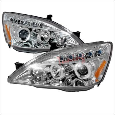 Spec-D - Honda Accord Spec-D Halo LED Projector Headlights - Chrome - 2LHP-ACD03-TM