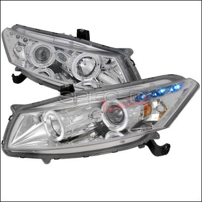 Spec-D - Honda Accord Spec-D Halo Projector Headlights - Chrome Housing - 2LHP-ACD082-TM