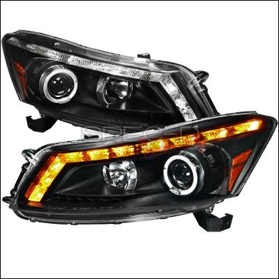 Spec-D - Honda Accord Spec-D Projector Headlights - Black Housing - 2LHP-ACD084JM-TM
