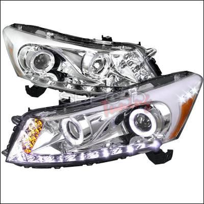 Spec-D - Honda Accord Spec-D Projector Headlight - Chrome - 2LHP-ACD084-RS