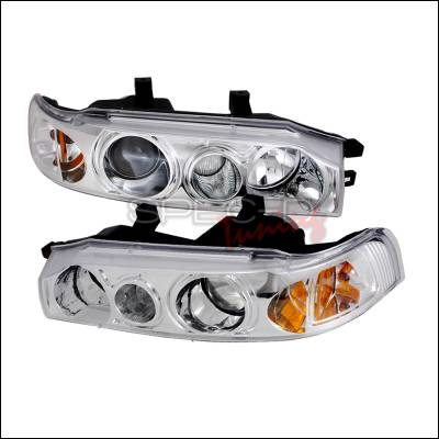 Spec-D - Honda Accord Spec-D Halo Projector Headlights - Chrome - 2LHP-ACD90-KS