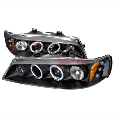Spec-D - Honda Accord Spec-D Halo LED Projector Headlights - Black - 2LHP-ACD94JM-TM