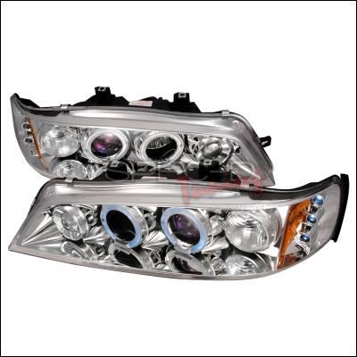 Spec-D - Honda Accord Spec-D Halo LED Projector Headlights - Chrome - 2LHP-ACD94-TM