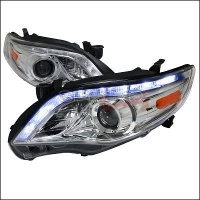 Spec-D - Toyota Corolla Spec-D Projector Headlights - Chrome Housing - 2LHP-COR11-TM
