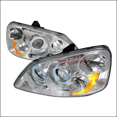 Spec-D - Honda Civic Spec-D Halo Projector Headlights - Chrome - 2LHP-CV01-KS
