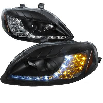 Spec-D - Honda Civic Spec-D R8 Style Projector Headlights - 2LHP-CV99JM-8V2-TM