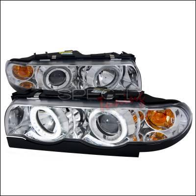 Spec-D - BMW 7 Series Spec-D Projector Headlights - Chrome Housing - Day Light Ring - 2LHP-E3895-DL-APC