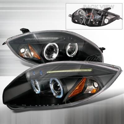 Spec-D - Mitsubishi Eclipse Spec-D Halo LED Projector Headlights - Black - 2LHP-ELP06JM-TM