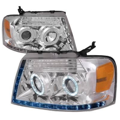 Spec-D - Ford F150 Spec-D R8 Projector Headlight - 2LHP-F15004-8-RS