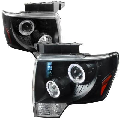 Spec-D - Ford F150 Spec-D Dual Halo LED Pro Headlight - 2LHP-F15009JM-TM