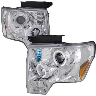 Spec-D - Ford F150 Spec-D Dual Halo LED Pro Headlight - 2LHP-F15009-TM