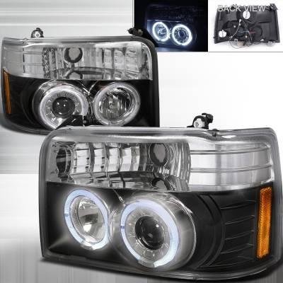 Spec-D - Ford F150 Spec-D Projector Headlights - 2LHP-F15092JM-TM
