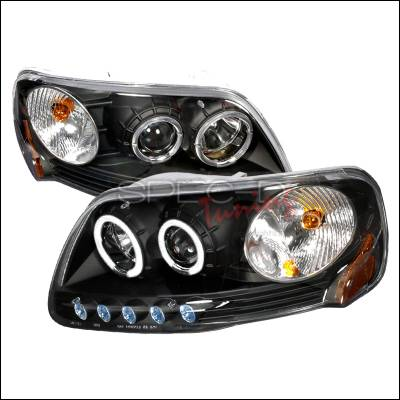 Spec-D - Ford Expedition Spec-D Halo Projector Headlights - Black - 2LHP-F150971PCJM-KS