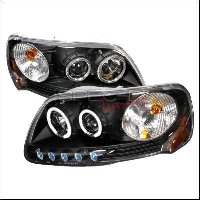 Spec-D - Ford F150 Spec-D Halo Projector Headlights - Black - 2LHP-F150971PCJM-KS