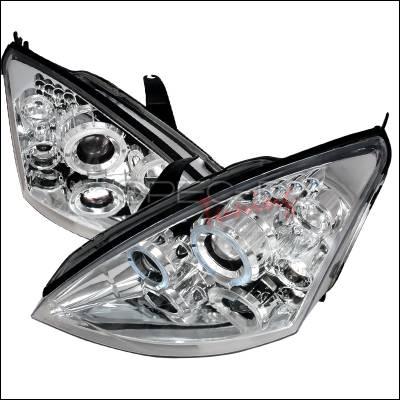 Spec-D - Ford Focus Spec-D Halo LED Projector Headlights - Chrome - 2LHP-FOC00-TM