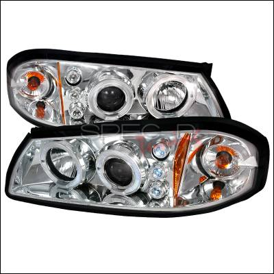 Spec-D - Chevrolet Impala Spec-D Halo LED Projector Headlights - Chrome - 2LHP-IPA00-TM