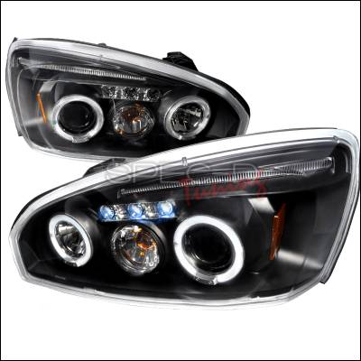 Spec-D - Chevrolet Malibu Spec-D Halo LED Projector Headlights - Black - 2LHP-MBU04JM-TM
