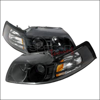 Spec-D - Ford Mustang Spec-D Halo Projector Headlights - Black - 2LHP-MST99JM-KS