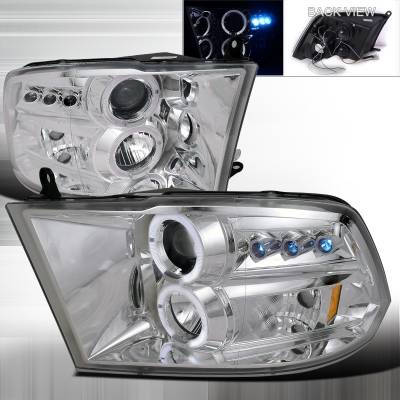 Spec-D - Dodge Ram Spec-D Projector Headlights - 2LHP-RAM09-TM
