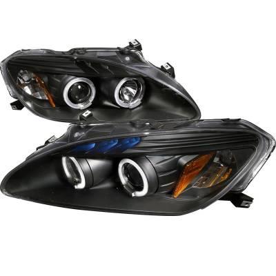 Spec-D - Honda S2000 Spec-D Black Housing Projector Headlights - 2LHP-S2K00JM-TM