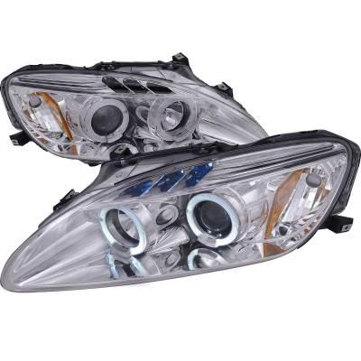 Spec-D - Honda S2000 Spec-D Chrome Housing Projector Headlights - 2LHP-S2K00-TM