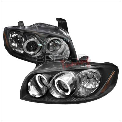 Spec-D - Nissan Sentra Spec-D Halo LED Projector Headlights - Chrome - 2LHP-SEN04JM-V2-TM