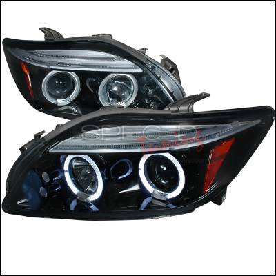 Spec-D - Scion tC Spec-D Halo Projector Headlight Gloss - Black Housing - Smoke Lens - 2LHP-TC05G-TM