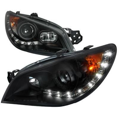 Spec-D - Subaru Impreza Spec-D Black Projector Headlight - 2LHP-WRX06JM-TM
