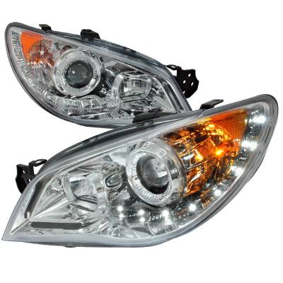 Spec-D - Subaru Impreza Spec-D Chrome Projector Headlight - 2LHP-WRX06-TM