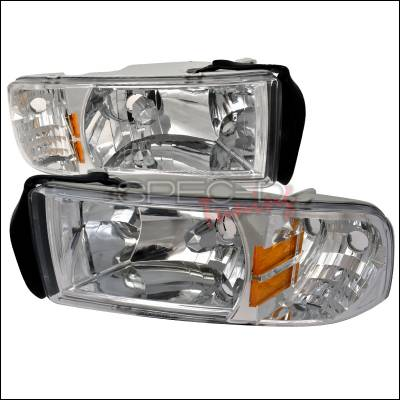 Spec-D - Dodge Ram Spec-D Crystal Housing Headlights - Chrome - 2LH-RAM94-ABM
