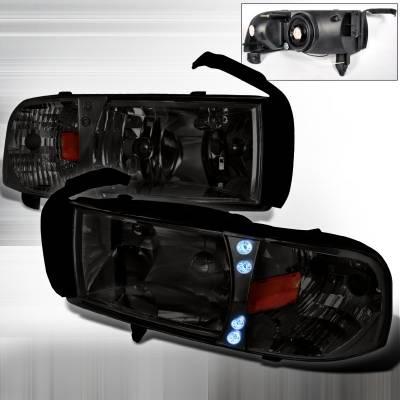 Spec-D - Dodge Ram Spec-D Crystal Housing LED Headlights - Smoke - 2LH-RAM94G-RS