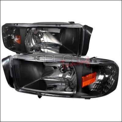 Spec-D - Dodge Ram Spec-D Crystal Housing Headlights - Black - 2LH-RAM94JM-ABM