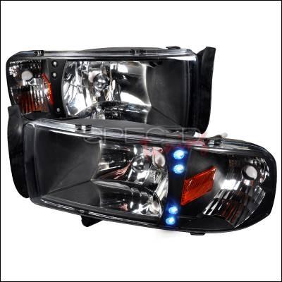 Spec-D - Dodge Ram Spec-D Crystal Housing LED Headlights - Black - 2LH-RAM94JM-RS