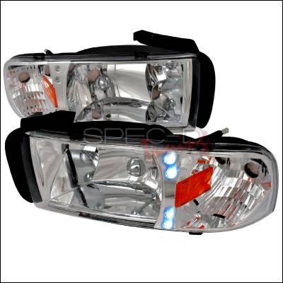 Spec-D - Dodge Ram Spec-D Crystal Housing LED Headlights - Chrome - 2LH-RAM94-RS
