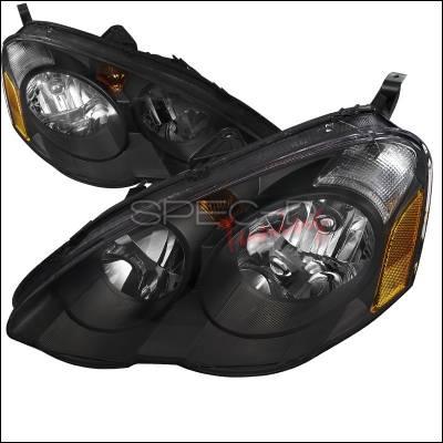 Spec-D - Acura RSX Spec-D Crystal Housing Headlights - Black - 2LH-RSX02JM-DP