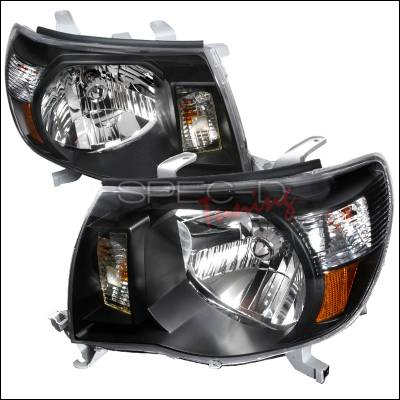 Spec-D - Toyota Tacoma Spec-D Crystal Housing Headlights - Black - 2LH-TAC06JM-KS