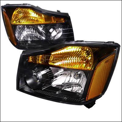 Spec-D - Nissan Titan Spec-D Black Housing Headlights - 2LH-TIT08JM-DP