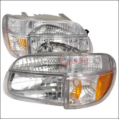 Spec-D - Ford Explorer Spec-D Crystal Housing Headlights - Chrome - 2LPLH-EPOR95-KS