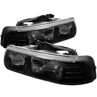 Spyder - Chevrolet Tahoe Spyder Crystal Headlights - Black - 333-CSIL99-BK