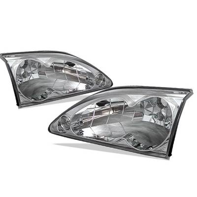 Spyder - Ford Mustang Spyder Crystal Headlights - Chrome - 333-FM94-C