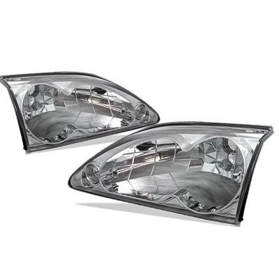 Spyder - Ford Mustang Spyder Crystal Headlights - Chrome - 333-FM94-C