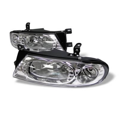 Spyder - Nissan Altima Spyder Crystal Headlights - Chrome - 333-NA93-C