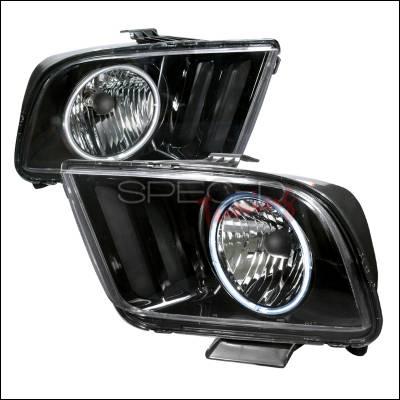 Spec-D - Ford Mustang Spec-D Crystal Housing Headlights - Black - 3LH-MST05JM-KS