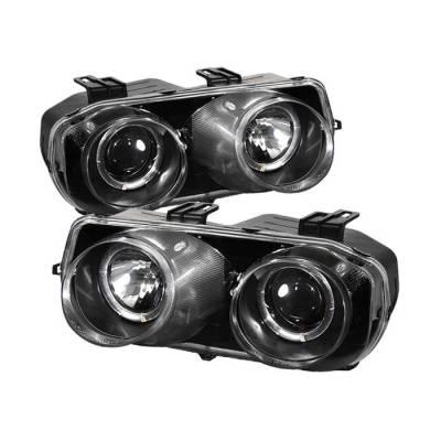 Spyder - Acura Integra Spyder Projector Headlights - LED Halo - Black - 444-AI94-HL-BK