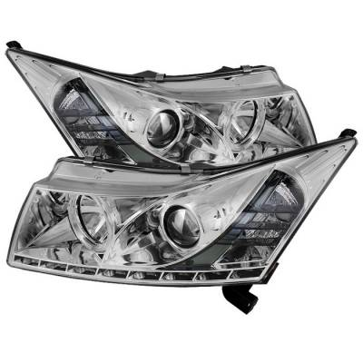Spyder - Chevrolet Cruze Spyder Projector Headlights - LED Halo - DRL - Chrome - 444-CCRZ11-DRL-C