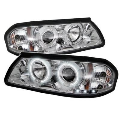 Spyder - Chevrolet Impala Spyder Projector Headlights - CCFL Halo - LED - Chrome - 444-CHIP00-CCFL-C