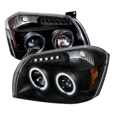 Spyder - Dodge Magnum Spyder Projector Headlights - CCFL Halo - LED - Black - 444-DMAG05-CCFL-BK